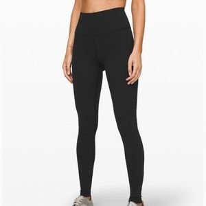 LULULEMON High Waist Wunder Under Black SZ 6